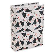 Livro caixa terrazo branco e preto 30x22 cm