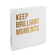 Caixa livro keep brilliant moments 30x30 cm