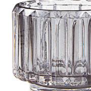 Porta velas em vidro Fume 06 cm