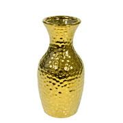 Vaso decorativo de cerâmica dourado 16,5 cm