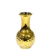 Vaso decorativo de cerâmica dourado 12,5 cm