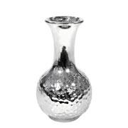Vaso decorativo de cerâmica prata 16 cm