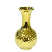 Vaso decorativo de cerâmica dourado 16 cm