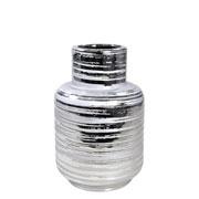 Vaso decorativo de cerâmica prata 20 cm