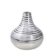 Vaso decorativo de cerâmica prata 17,5 cm