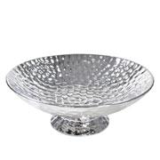 Centro de mesa de cerâmica prata 30 cm