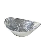 Centro de mesa de cerâmica prata 28x23 cm