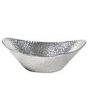 Centro de mesa de cerâmica prata 34x28 cm