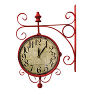 Relógio de estação hotel westminster vermelho 23 cm