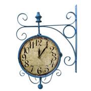 Relógio de estação Hotel Westminster azul 23 cm