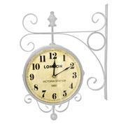 Relógio de estação London Station branco 23 cm