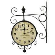 Relógio de estação London Station preto 23 cm
