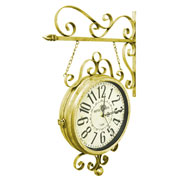 Relógio de estação hotel Paris dourado 31 cm