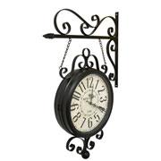 Relógio de estação Hotel Paris Preto 31 cm