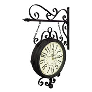 Relógio de estação Hotel Paris Marrom 31 cm