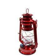 Lampião vermelho c/ luz led cor quente 24,5 cm