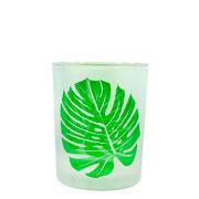 Castiçal em vidro folha 12x9 cm