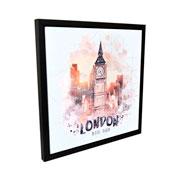 Quadro em canvas Preto London 40 cm