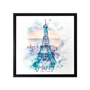 Quadro em canvas Preto Paris 40 cm