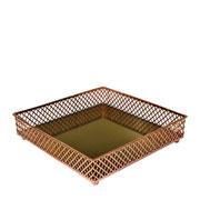 Bandeja metal cobre Layers espelhada 21x05 cm