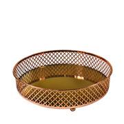 Bandeja metal cobre Layers espelhada 20.5x05 cm