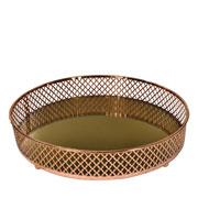 Bandeja metal cobre Layers espelhada 24.5x05 cm