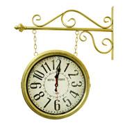 Relógio de estação Hotel Paris Dourado 35 cm