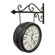Relógio de estação Hotel Paris Preto 35 cm