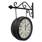 Relógio de estação Hotel Paris marrom 35 cm