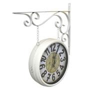 Relógio de estação Torre de Paris Branco 29 cm