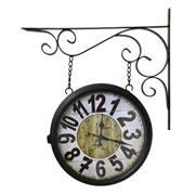 Relógio de estação Torre de Paris Preto 29 cm