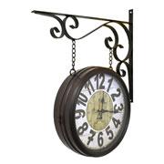 Relógio de estação Torre de Paris Marrom 29 cm