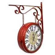 Relógio de estação Torre de Paris Vermelho 29 cm