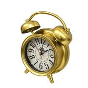 Relógio retrô de mesa dourado 22x8x24 cm