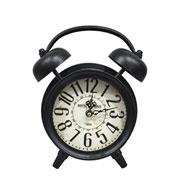 Relógio retrô de mesa preto 22x8x24 cm