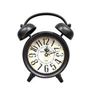 Relógio retrô de mesa marrom 22x8x24 cm