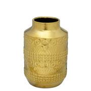 Vaso de cerâmica decorado dourado 30 cm
