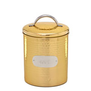 Pote em inox para café dourado 13x21 cm