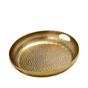 Bandeja de metal bubbles dourada 35 cm