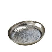 Bandeja de metal bubbles prata 30 cm