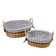 Jogo de cestas oval quariculada 2 peças