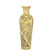 Vaso em metal dourado 69 cm