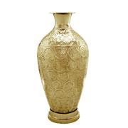 Vaso em metal dourado 73 cm