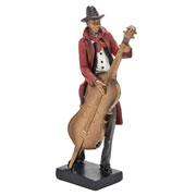 Enfeite músico decorativo de resina 27 cm