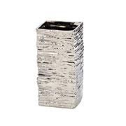 Vaso de cerâmica losango prata 24 cm