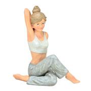 Enfeite de resina Mulher Yoga 20 cm