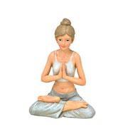 Enfeite de resina Mulher Yoga 14 cm