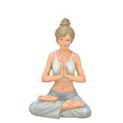 Enfeite de resina Mulher Yoga 18 cm