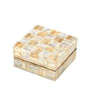 Caixa decorativa quadrada Madrepérola 15x08 cm