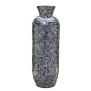Vaso decorativo de madrepérola cinza 65 cm